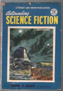 Astounding Science Fiction British Edition 9/1953-sci-fi pulp fiction-VG