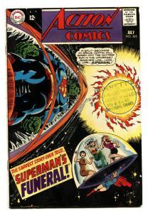 ACTION COMICS #365 comic book 1968- SUPERMAN-DC COMICS FN-