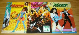 Windsor #1-3 VF/NM complete series - adam hughes - win-mill bad girl comics 2