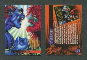 1995 Flair Marvel Annual Card #92 (Clan Destine)  MINT