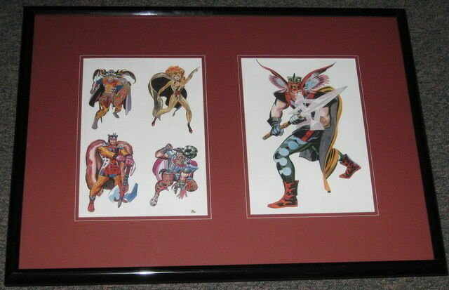 1968 Proposed New Thor Framed 20x28 Poster Photo Reproduction Jack Kirby