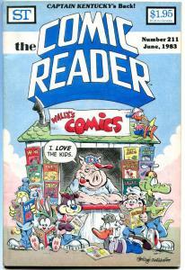 COMIC READER #211, VF+, Jim Engel, Joe Rubinstein, Fanzine,1983, more in store
