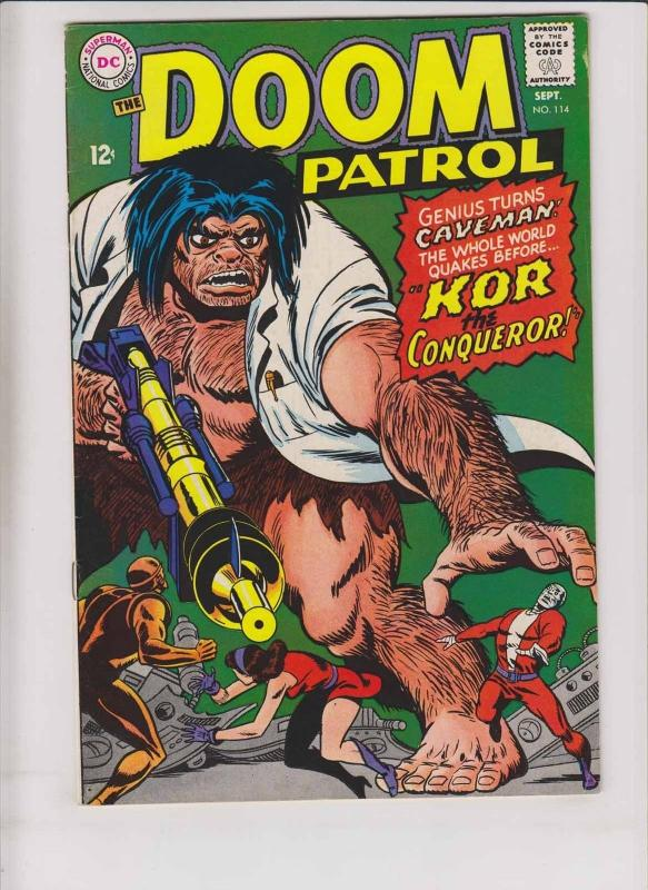 Doom Patrol #114 VF september 1967 - 1st appearance of kor the conqueror