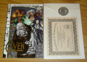 the Coven #1 VF/NM dynamic forces fan appreciation gold variant w/COA (331/2000)