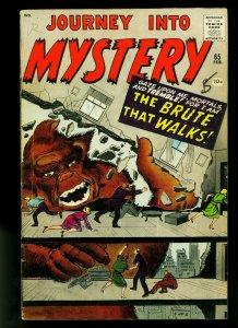 Journey Into Mystery #65 1961- horror- Ditko- Kirby- VG