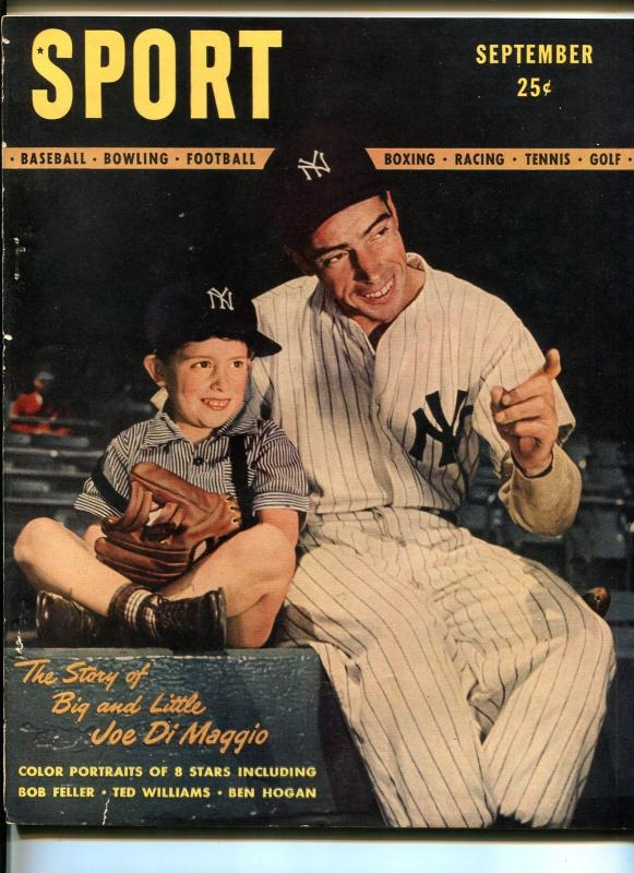 SPORT #1 09/1946-1ST ISSUE-JOE DIMAGGIO-BEN HOGAN-SOUTHERN STATES-fn+