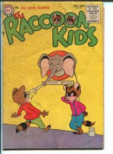 THE RACCOON KIDS #57-1955-DC COMICS-ELEPHANT COVER-SHELDON MAYER-good