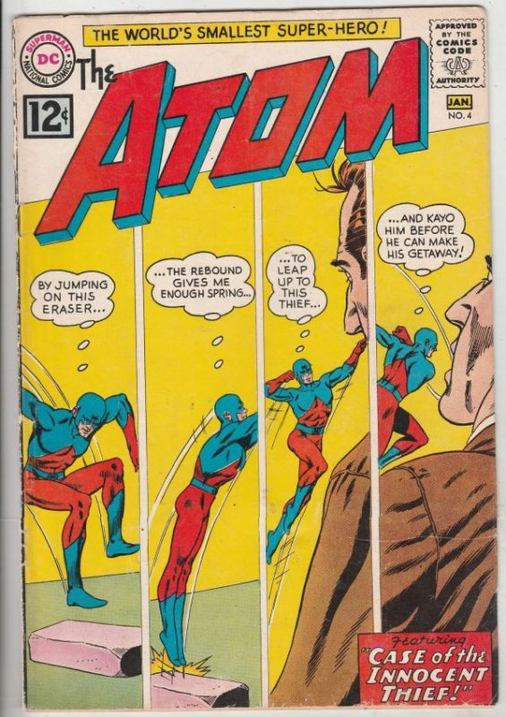 Atom, The #4 (Jan-63) FN/VF- Mid-High-Grade The Atom