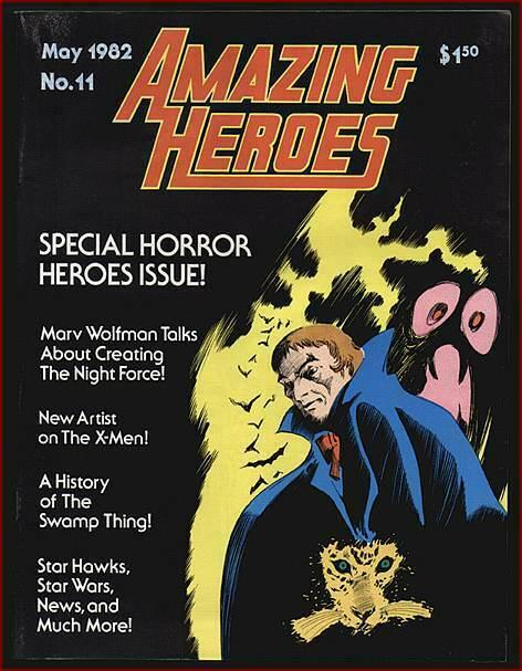 AMAZING HEROES 11 VF HORROR HEROES ISSUES,WARREN RETROS