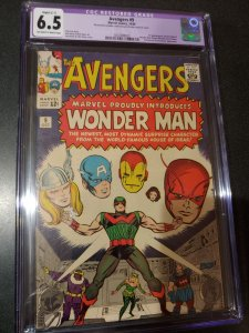 THE AVENGERS #9 CGC 6.5 RESTORED GRADE   1ST APPEARANCE OF WONDER MAN