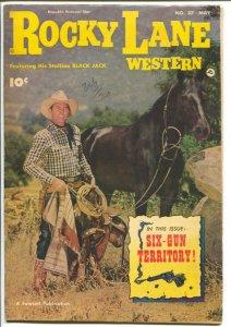 Rocky Lane Western #37-1952-Fawcett- B-Western movie star photo cover-FN