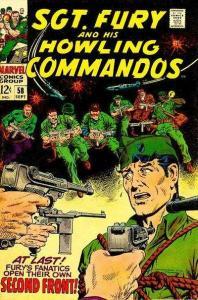 Sgt. Fury #58, VG+ (Stock photo)