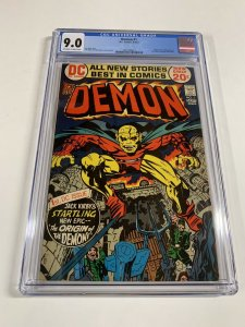Demon 1 Cgc 9.0 Ow/w Pages Dc Comics Bronze Age Jack Kirby 2031406014