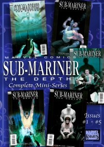 SUB-MARINER: THE DEPTHS #1-5 (Nov 2008) 9.0 VF/NM  5-Issue Painted Mini-Series!