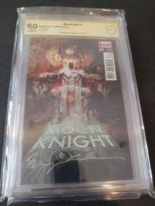 MOON KNIGHT #1 CBCS SIGNATURE SERIES SIGNED BY BILL SIENKIEWICZ SCARCE VARIANT