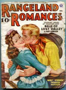 Rangeland Romances Pulp October 1943- Art Lawson- Western G