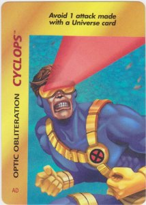 1995 Marvel Overpower Card Game Optic Obliteration