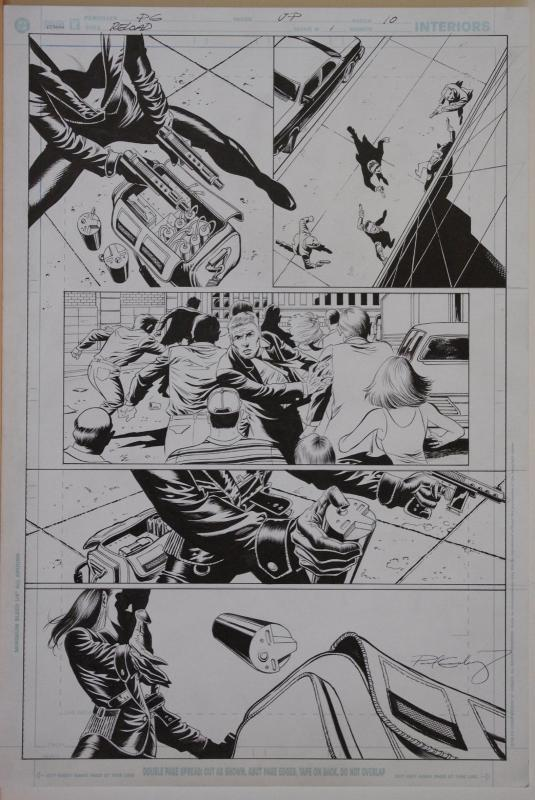 PAUL GULACY / JIMMY PALMIOTTI original art, RELOAD #1 pg 10, Hitwoman, Boom