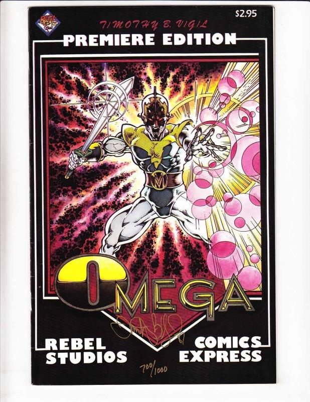 Omega #1 VF rebel studios early work by tim vigil - signed edition (only 1,000)