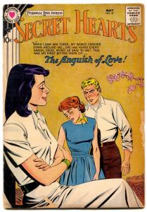 SECRET HEARTS #47 1958-DC ROMANCE- Anguish of Love G