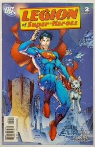 Legion of Super-Heroes #2 (2010 DC) VF/NM 1:10 Jim Lee Superboy & Krypto Variant