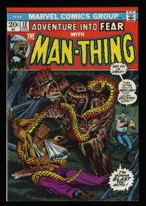 Fear #12 NM- 9.2 Man-Thing!