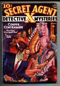 Secret Agent X 12/1938-pulp magazine-weird menace cover