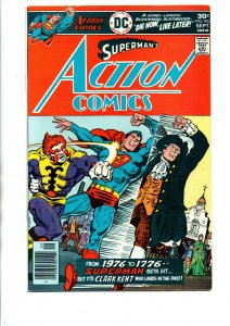 Action Comics #463 newsstand - Superman - 1976 - FN/VF