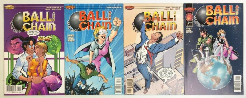 Ball and Chain #1-4 VF/NM complete series - homage comics - married super heroes
