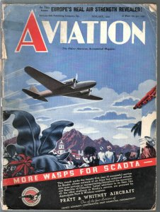 Aviation 1/1939-Pre-WWII-aircraft-photos & info-100+ pages-Europe's air strength