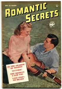 Romantic Secrets #5 1950- Golden Age Romance comic- Accused VG/F