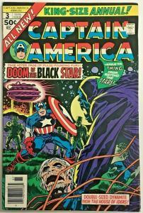 CAPTAIN AMERICA ANNUAL#3 VF 1976 JACK KIRBY MARVEL BRONZE AGE COMICS