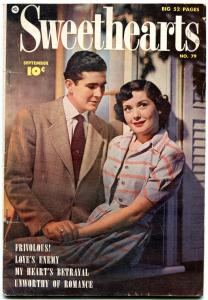 Sweethearts #79 1949- Golden Age Fawcett Romance- Dana Andrews FN