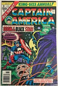 CAPTAIN AMERICA ANNUAL#3 FN 1976 JACK KIRBY MARVEL BRONZE AGE COMICS