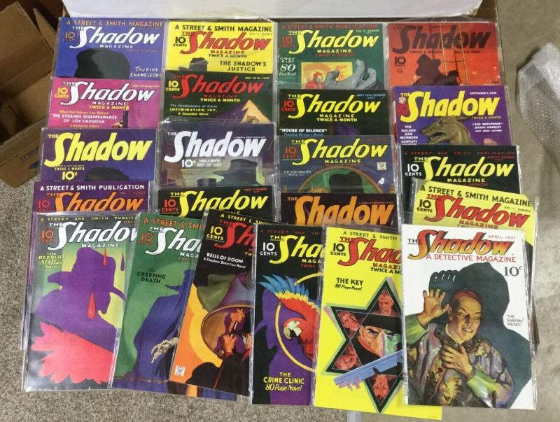 The Shadow Girasol Collectibles Pulp Reprints 1-20 (missing #12) Near Mint P16