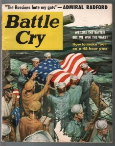 Battle Cry 10/1956-Clarence Doore-Kay Douglas cheesecake-Russian MIG-G/VG