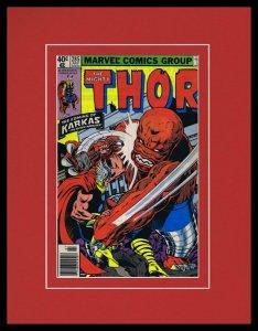 Thor #285 Framed 11x14 ORIGINAL 1979 Marvel Comics Cover Karkas