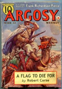 Argosy Pulp March 12 1938- Captain Hornblower- Forester- Flag to Die For G/VG