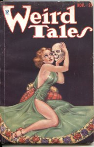 WEIRD TALES pulp NOV 1933---M BRUNDAGE GOOD GIRL ART SKULL COVER---1st C L MOORE