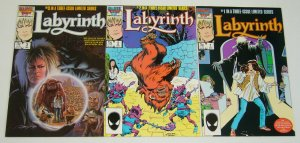 Labyrinth #1-3 VF/NM complete series - jim henson - david bowie movie set lot 2