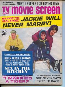 TV Movie Screen-Jackie Kennedy-Helen Gurley Brown-Jill Ireland-May-1966