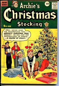 Archie's Giant Series #4 1957-Christmas Stocking-Christmas Tree-Betty-VG