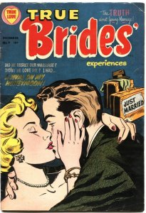 TRUE BRIDE'S EXPERIENCES #9-GOOD GIRL ART-HARVEY-1954-ROMANCE COVER