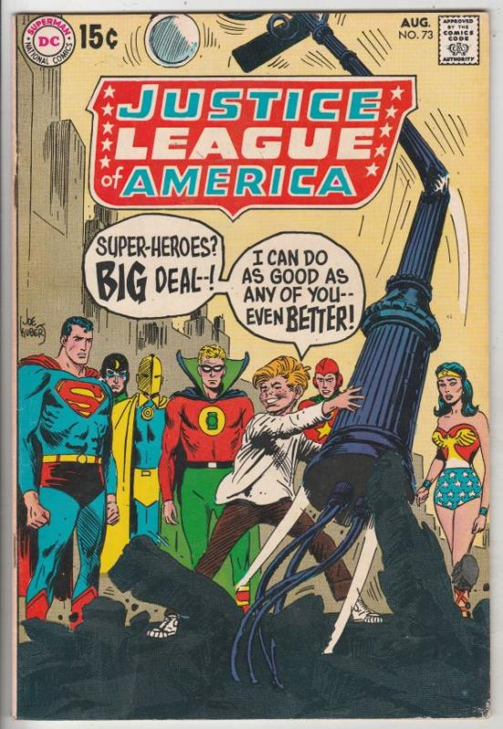 Justice League of America #73 (Aug-69) FN/VF+ High-Grade Justice League of Am...