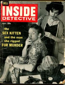 Inside Detective 9/1958-Dell-pulp thrills-cross dressing-sex kitten-G