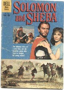 SOLOMON & SHEBA #1070-YUL BRYNNER & GINA L PHOTO CVR--DELL FOUR COLOR-1959