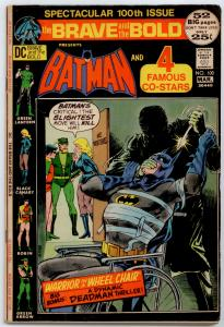 DC Brave And The Bold #100 VG/FN 5.0  Batman & 4 Famous Co-stars
