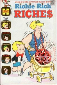 RICHIE RICH RICHES (1972-1982) 3 F+ Nov. 1972 COMICS BOOK