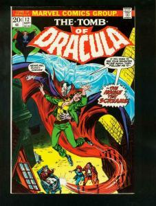 TOMB OF DRACULA #12 1973-2nd BLADE VAMPIRE HUNTER-MARVEL -COLAN-very fine  VF++