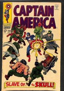 Captain America #104 VG- 3.5 Marvel Comics